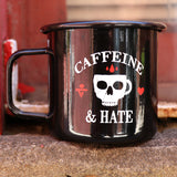 Caffeine and Hate Blacked Out Tin Mug