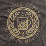 I Drink Coffee - Brown - T-Shirt