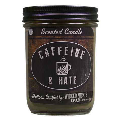 Caffeine & Hate Wicked Nick's Candle