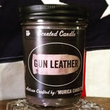 Gun Leather 'Merica Candle