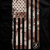 Chocolate Chip Camo Flag T-Shirt