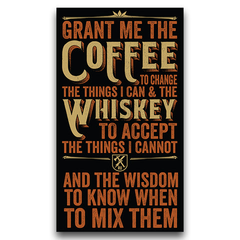 Coffee Whiskey Prayer Sticker