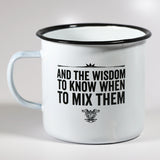 Coffee Whiskey Prayer Tin Mug