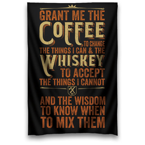 Coffee Whiskey Prayer Wall Tapestry