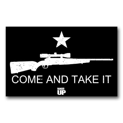 Come And Take It Rifle Sticker