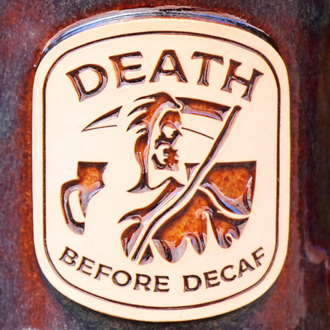 Death Before Decaf Stoneware Mug