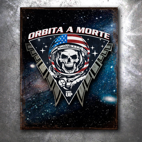 Space Force Death From Orbit Tin Sign