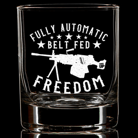 Full Auto Freedom Whiskey Glass
