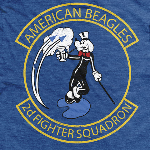 GOEF American Beagles T-Shirt Royal Blue