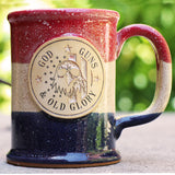 God, Guns, and Old Glory Stoneware Mug