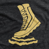 Vettys Gold Boot Charcoal T-Shirt