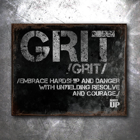 Grit Tin Sign