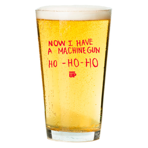 Ho Ho Ho Machine Gun Pint Glass
