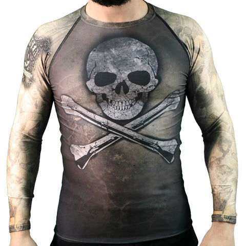 Hoist The Black Flag Long-sleeve Rash Guard