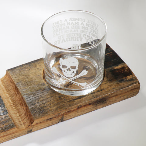 Hoist the Black Flag Cigar and Whiskey Glass Holder