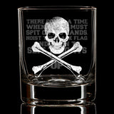 Hoist The Black Flag Whiskey Glass