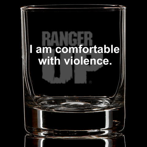 Comfortable with Violence Whiskey Glass