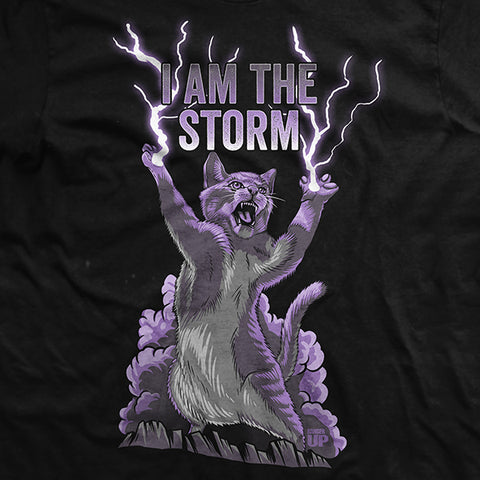 I Am The Storm Cat T Shirt I am the storm covers a wide variety of topics including various aspects of nlp (neurolinguistic programming) such as rapport skills and reframing, hypnosis and the variety things it is helpful with, changing limiting beliefs, dream interpretation, archetypal imagery, weight loss, the ketogenic diet. i am the storm cat t shirt
