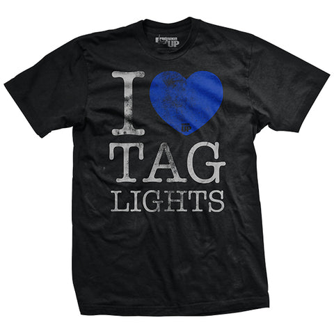 I Heart Tag Lights Vintage-Fit T-Shirt