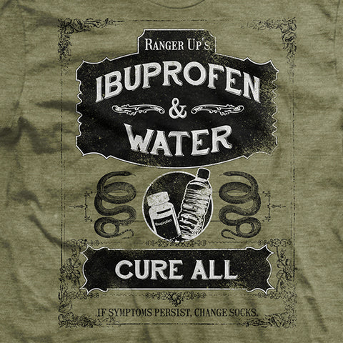 Ibuprofen and Water Cure-All T-Shirt