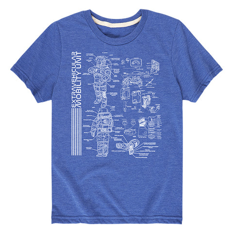 "Kid's NASA ""EMU"" Blueprint T-Shirt"