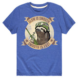 Kids Slow is Smooth Sloth T-Shirt