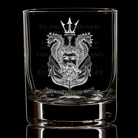 King Neptune Shellback Whiskey Glass