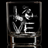 LOVE Whiskey Glass