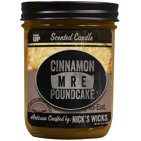 Cinammon MRE Poundcake Wicked Nick's Candle