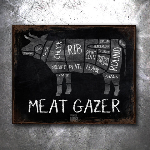 Meatgazer Tin Sign
