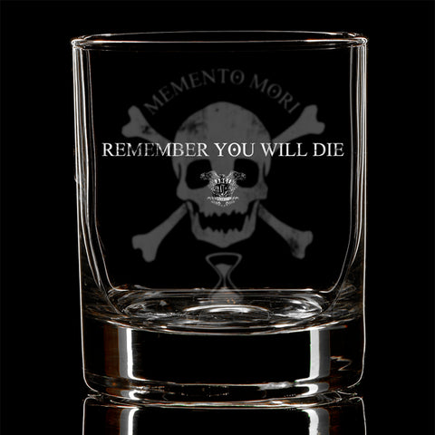 Memento Mori Whiskey Glass