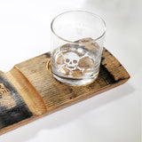 Memento Mori Cigar and Whiskey Glass Holder