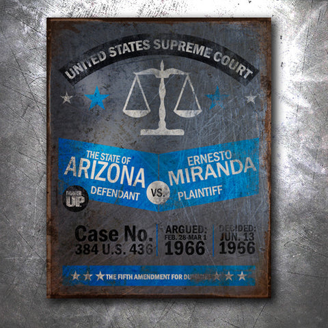 Miranda Tin Sign