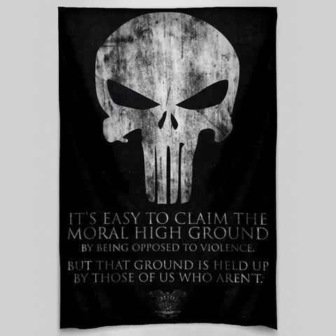 Moral High Ground Wall Tapestry