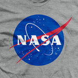 "Mens NASA ""Meatball"" Insignia- Gray - T-Shirt"