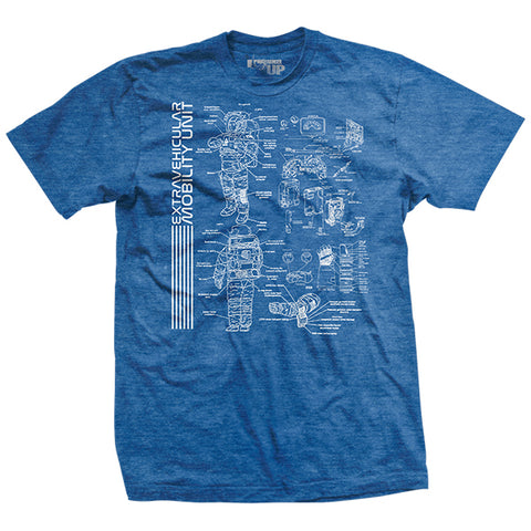 "NASA ""EMU"" Blueprint T-Shirt"