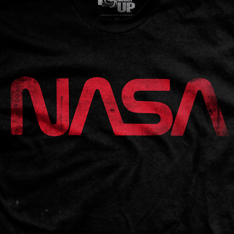 "The NASA ""Worm"" - Black - T-Shirt"