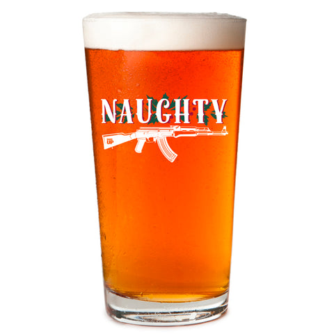 Naughty Pint Glass