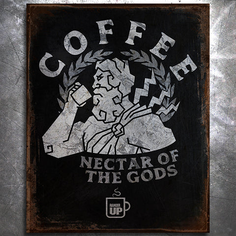 Zeus Nectar of the Gods Tin Sign