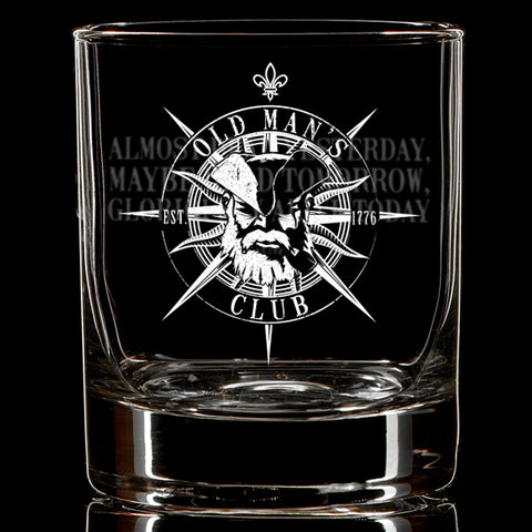 Old Man's Club - Alive Whiskey Glass