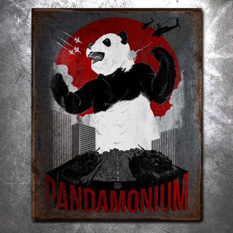 Pandamonium Vintage Tin Sign