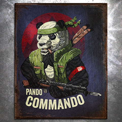 Pando Commando Tin Sign