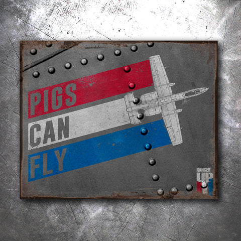 Pigs Can Fly Tin Sign