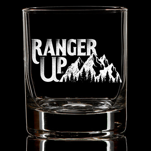Ranger Up Mountains Whiskey Glass