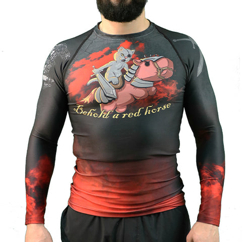 Red Horse long sleeved Rash guard