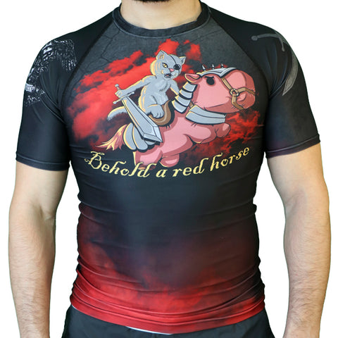 Red Horse Short Sleeve Rash guard