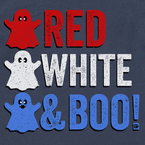 Kids Halloween - Red, White, And Boo! Shirt