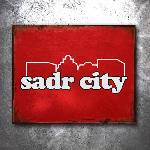 Sadr City Tin Sign