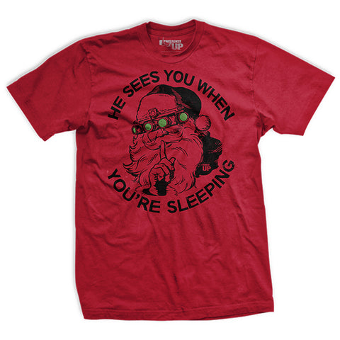 He Sees You When You're Sleeping Vintage Tee