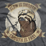Slow Is Smooth Smooth Is Fast Vintage-Fit T-Shirt